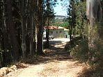 De toegangsweg
